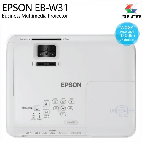 Epson EB-W31 3LCD WXGA Business Multimedia Projector