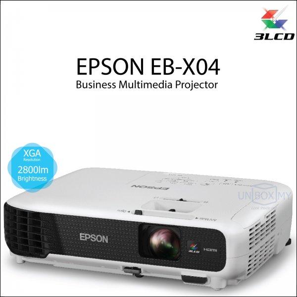 Epson EB-X04 3LCD XGA Business Multimedia Projector