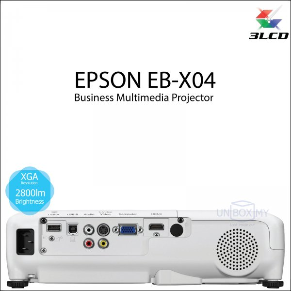 Epson EB-X04 3LCD XGA Business Multimedia Projector
