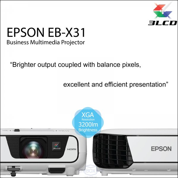 Epson EB-X31 3LCD Business Multimedia Projector