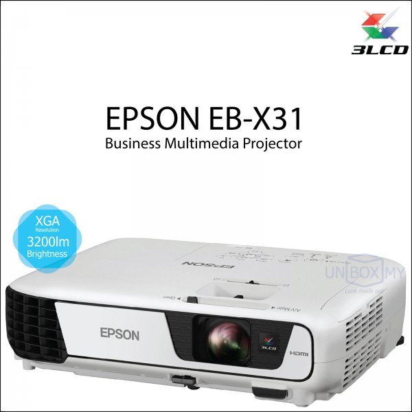 Epson EB-X31 3LCD XGA Business Multimedia Projector