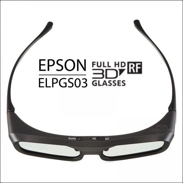Epson ELPGS03 Full HD RF Active Shutter 3D Glasses