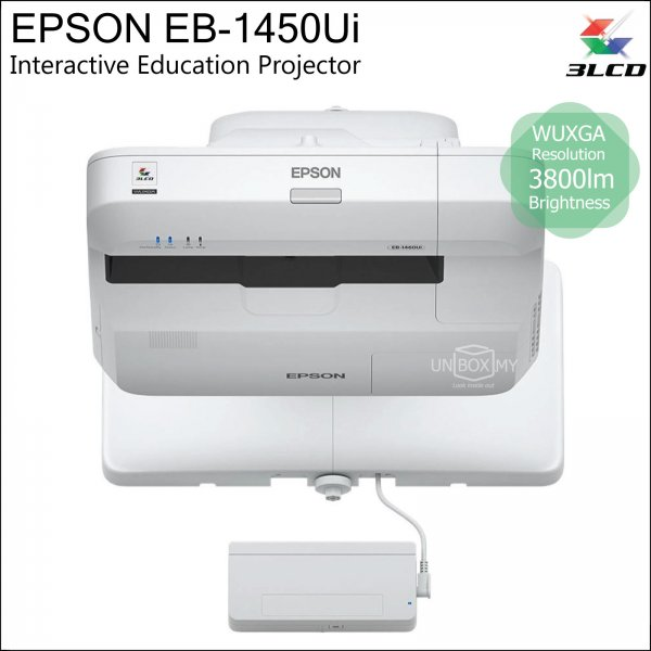 Epson EB-1450Ui 3LCD WUXGA Ultra Short Throw Interactive Education Projector