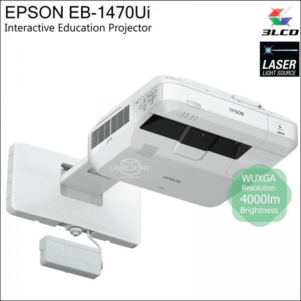 Epson EB-1470Ui 3LCD Laser WUXGA Ultra Short Throw Interactive Education Projector