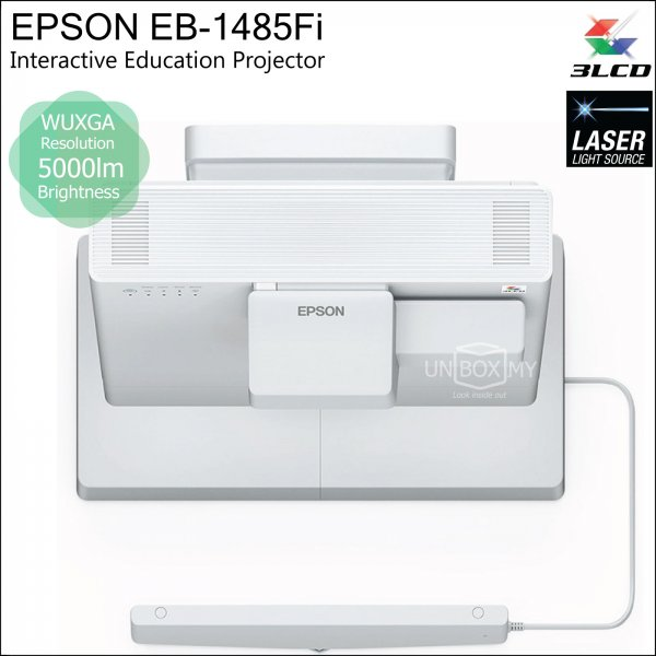 Epson EB-1485Fi 3LCD Laser WUXGA Ultra Short Throw Interactive Education Projector