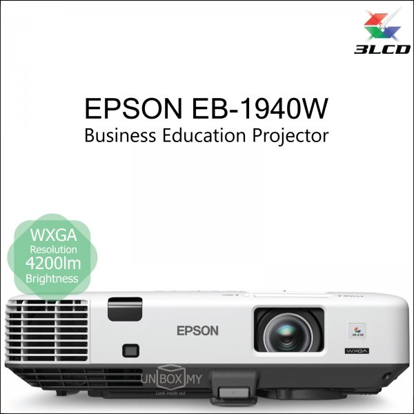 Epson EB-1940W 3LCD WXGA Business Education Projector