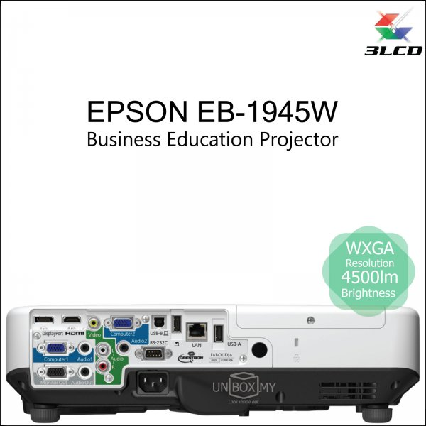 Epson EB-1945W 3LCD WXGA Business Education Projector