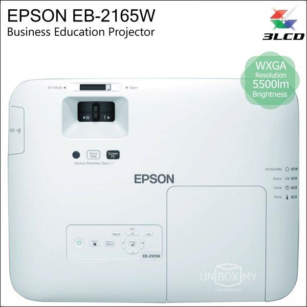 Epson EB-2165W 3LCD WXGA Business Education Projector
