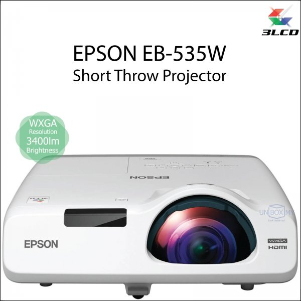 Epson EB-535W 3LCD WXGA Short Throw Projector