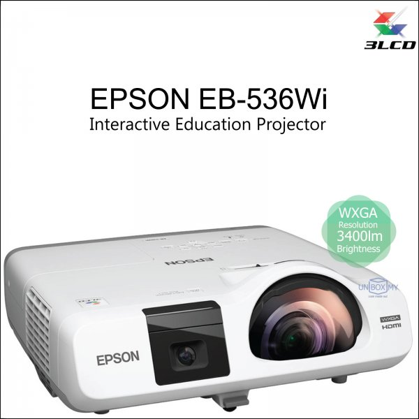 Epson EB-536Wi 3LCD WXGA Short Throw Interactive Education Projector
