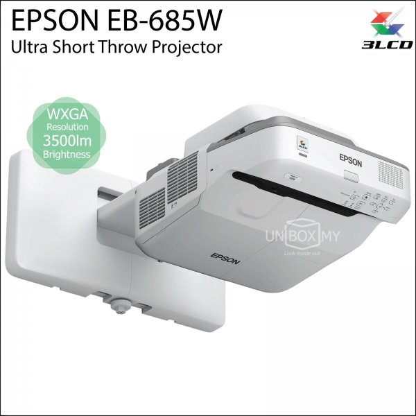 Epson EB-685W 3LCD WXGA Ultra Short Throw Projector