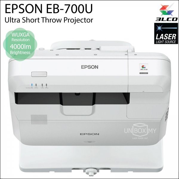 Epson EB-700U 3LCD Laser WUXGA Ultra Short Throw Projector