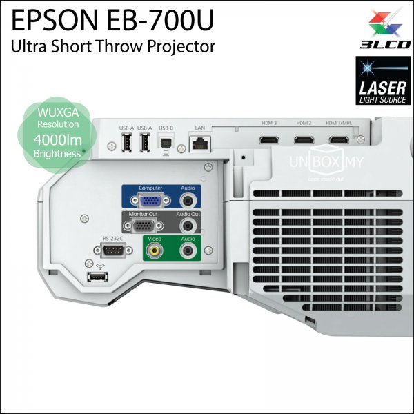 Epson EB-700U 3LCD Laser WUXGA Ultra Short Throw Projector