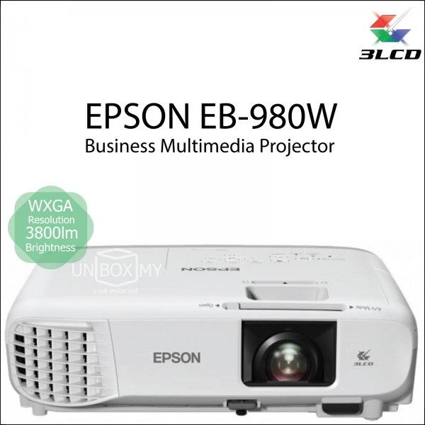 Epson EB-980W 3LCD WXGA Business Education Projector