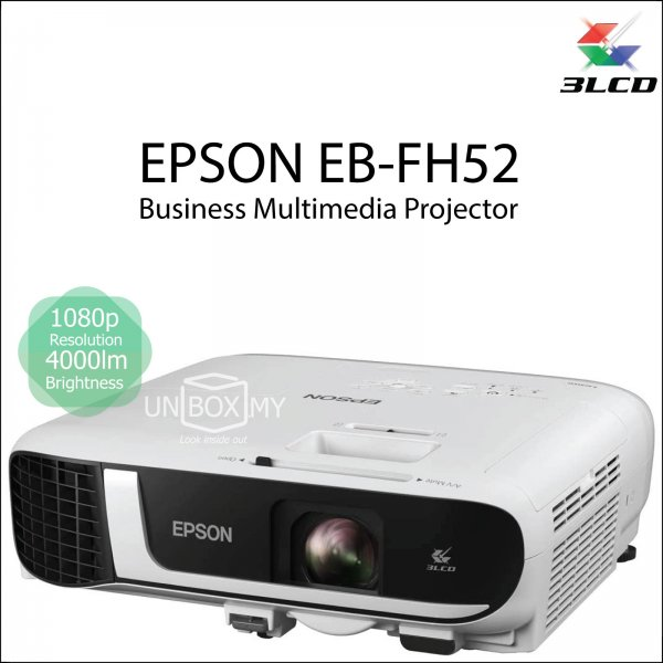 Epson EB-FH52 3LCD Full HD 1080p Business Multimedia Projector
