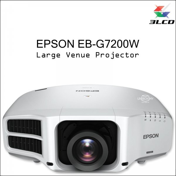 Epson EB-G7200W 3LCD WXGA Large Venue Projector