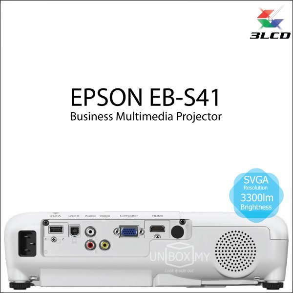Epson EB-S41 3LCD SVGA Business Multimedia Projector