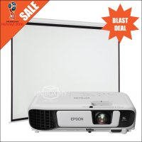 Epson EB-S41 Projector with Manual Screen Package