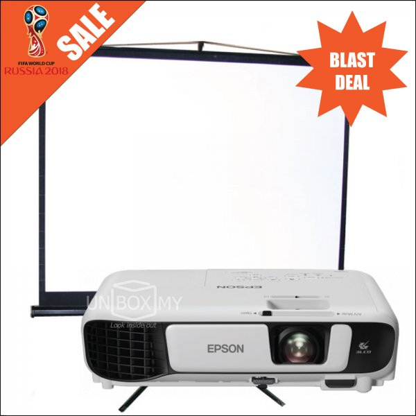 Epson EB-S41 Projector with Tripod Screen Package
