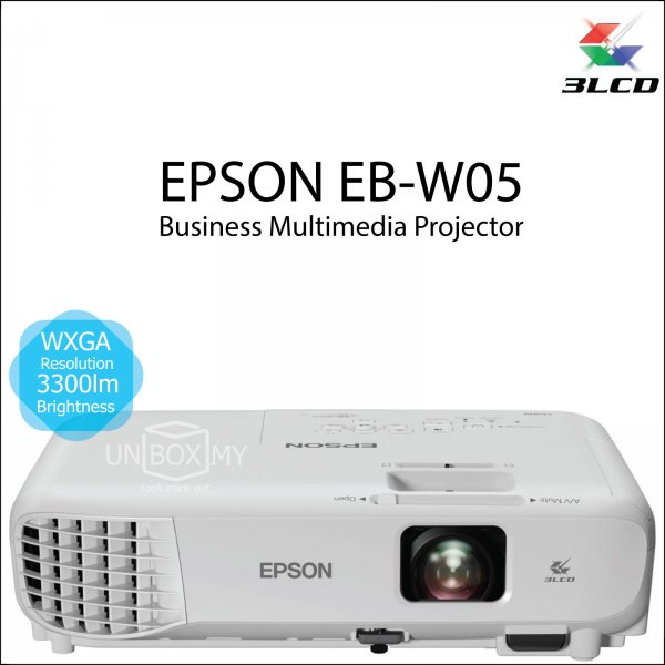Epson EB-W05 3LCD WXGA Business Multimedia Projector