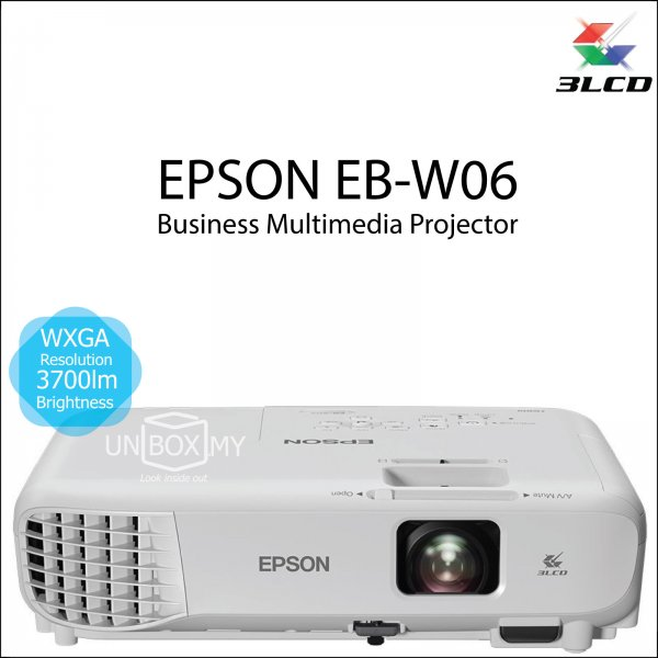 Epson EB-W06 3LCD WXGA Business Multimedia Projector