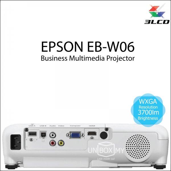 Epson EB-W06 3LCD WXGA Business Multimedia Projector