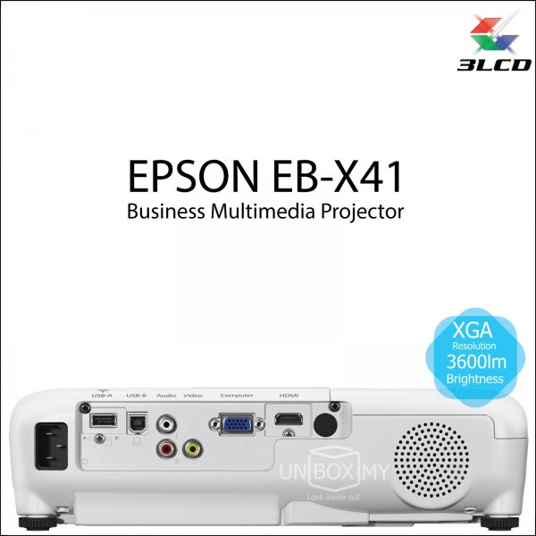 Epson EB-X41 3LCD XGA Business Multimedia Projector