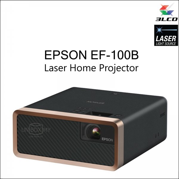 Epson EF-100B 3LCD Laser WXGA Home Entertainment Projector