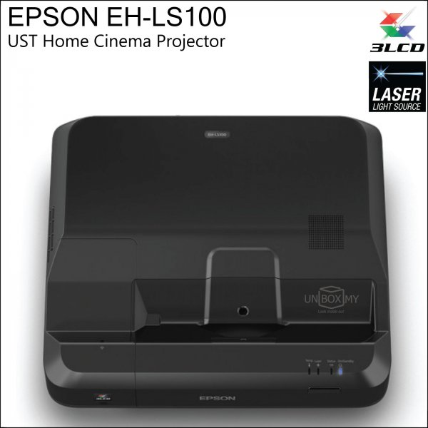 Epson EH-LS100 Ultra Short-throw Laser Full HD Home Cinema Projector
