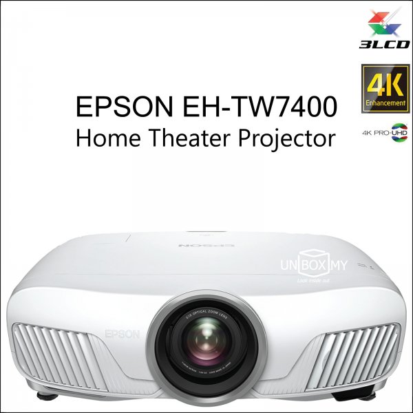 Epson EH-TW7400 4K PRO-UHD 3D Home Theater Projector