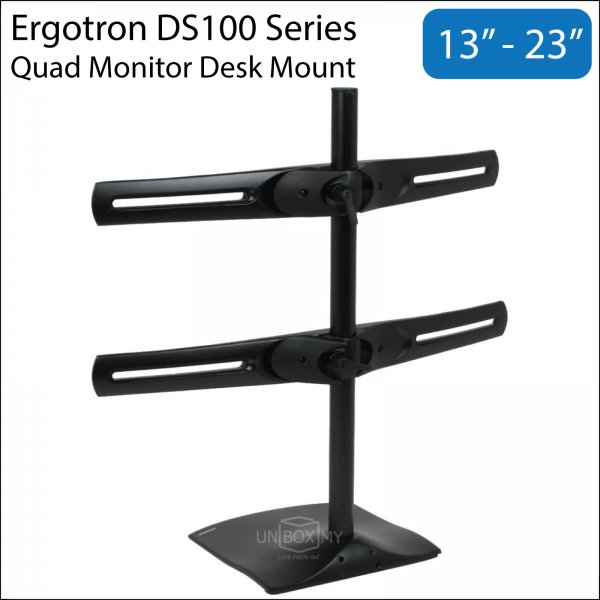 Ergotron DS100 13-23 inch Quad Monitor LCD Desk Mount Stand