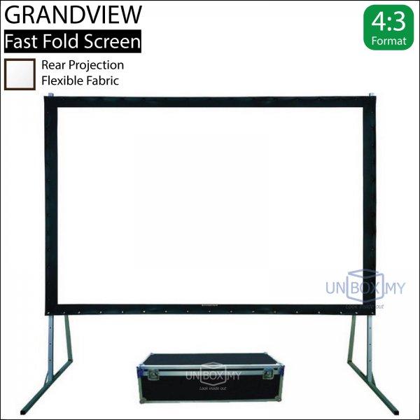 GRANDVIEW Super Mobile Series Fast Fold Screen Rear Fabric (NTSC 4:3)