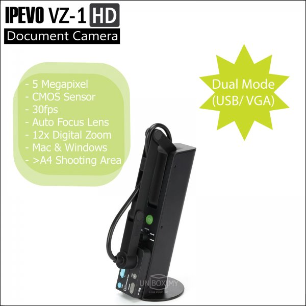 IPEVO VZ-1 HD Dual Mode Document Camera