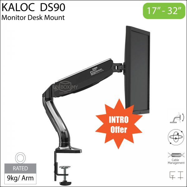 Kaloc DS90 17-32 inch LCD Monitor Desk Mount Stand