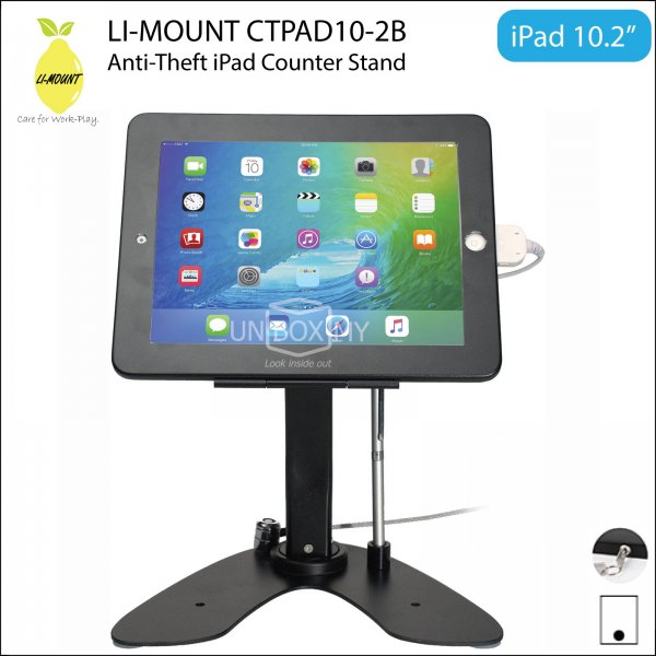 LI-MOUNT CTPAD10-2B Anti-Theft iPad Counter-top Kiosk Stand