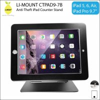 LI-MOUNT CTPAD9-7B Anti-Theft iPad Counter-top Table Stand