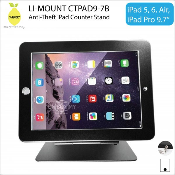 LI-MOUNT CTPAD9-7B Anti-Theft iPad Counter-top Kiosk Stand