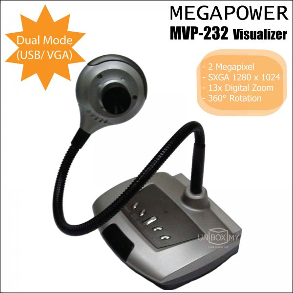 MEGAPOWER MVP-232 2-megapixels VGA USB Document Camera