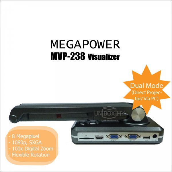 MEGAPOWER MVP-238 8-megapixels Document Camera