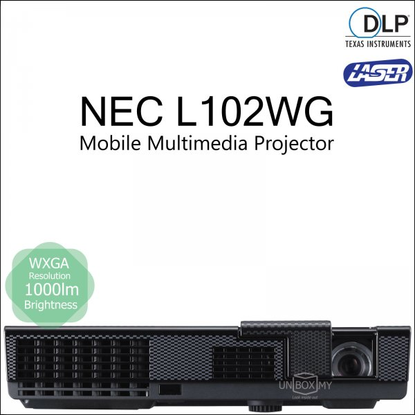 NEC NP-L102WG DLP WXGA Mobile Multimedia Projector