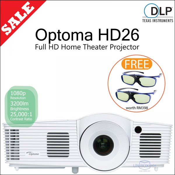 Optoma HD26 DLP Full HD Home Theater Projector