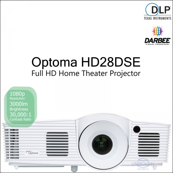 Optoma HD28DSE DLP Full HD Home Theater Projector