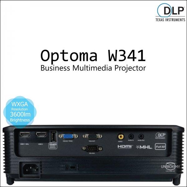 Optoma W341 DLP WXGA Business Multimedia Projector
