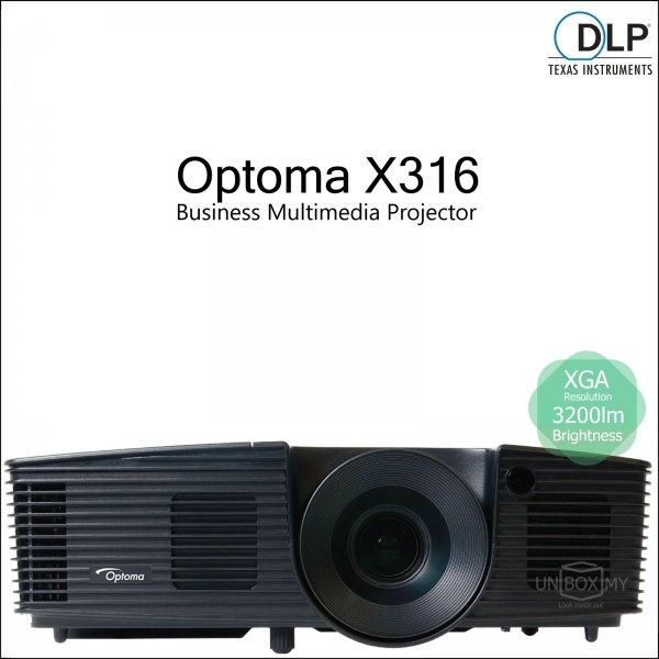 Optoma X316 DLP XGA Business Multimedia Projector