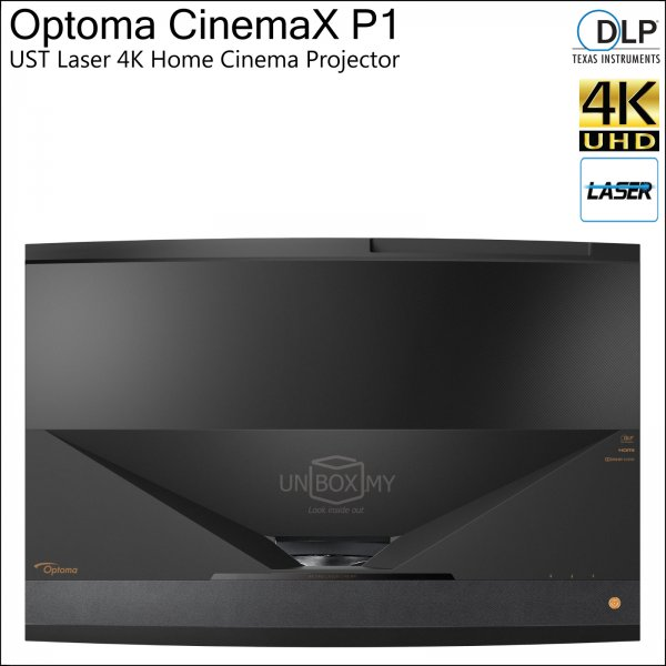 Optoma CinemaX P1 DLP 4K Ultra HD Laser Home Entertainment Projector