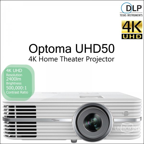 Optoma UHD50 DLP 4K Ultra HD Home Theater Projector