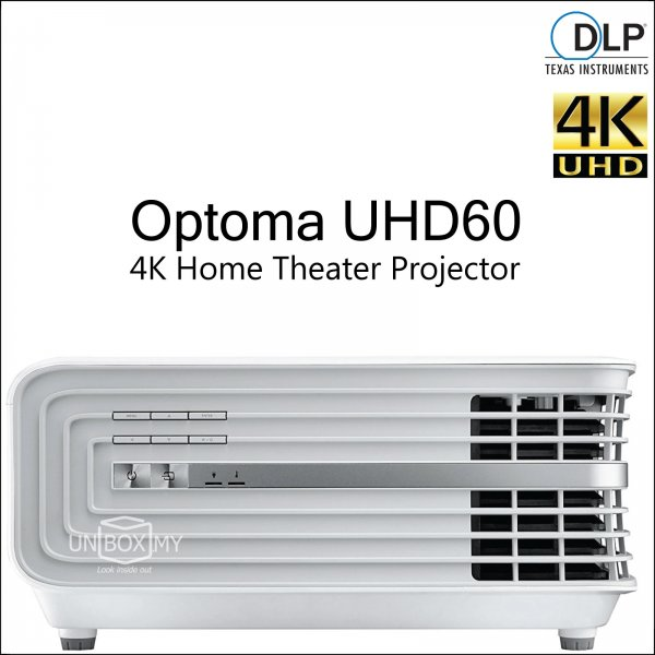 Optoma UHD60 DLP 4K Ultra HD Home Theater Projector