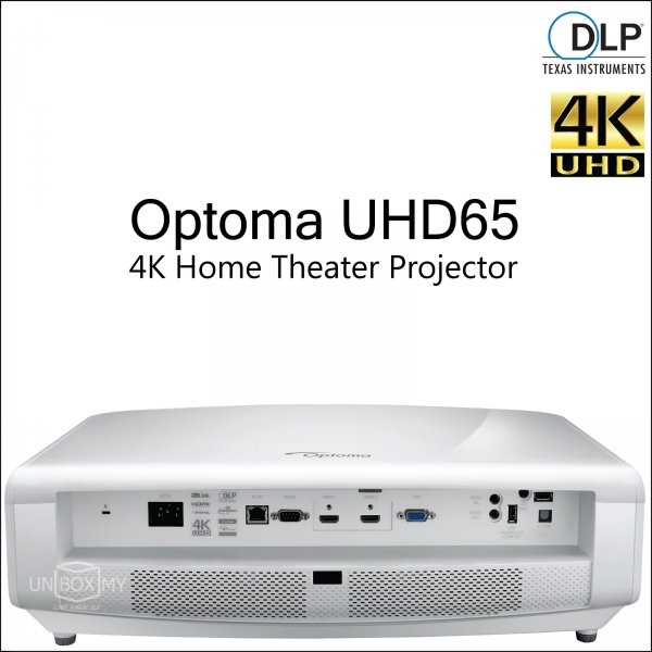 Optoma UHD65 DLP 4K Ultra HD Home Theater Projector
