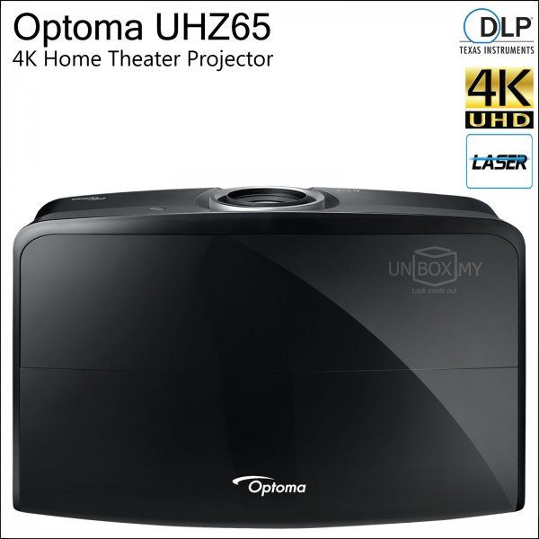 Optoma UHZ65 DLP 4K Ultra HD Laser Home Theater Projector