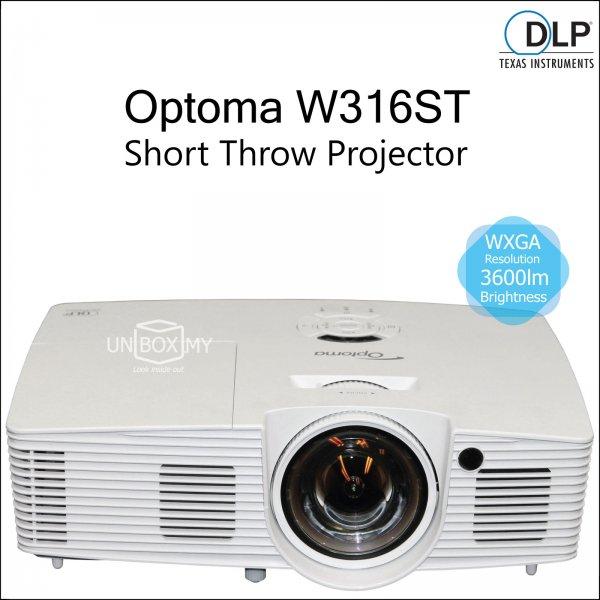 Optoma W316ST DLP WXGA Short Throw Projector